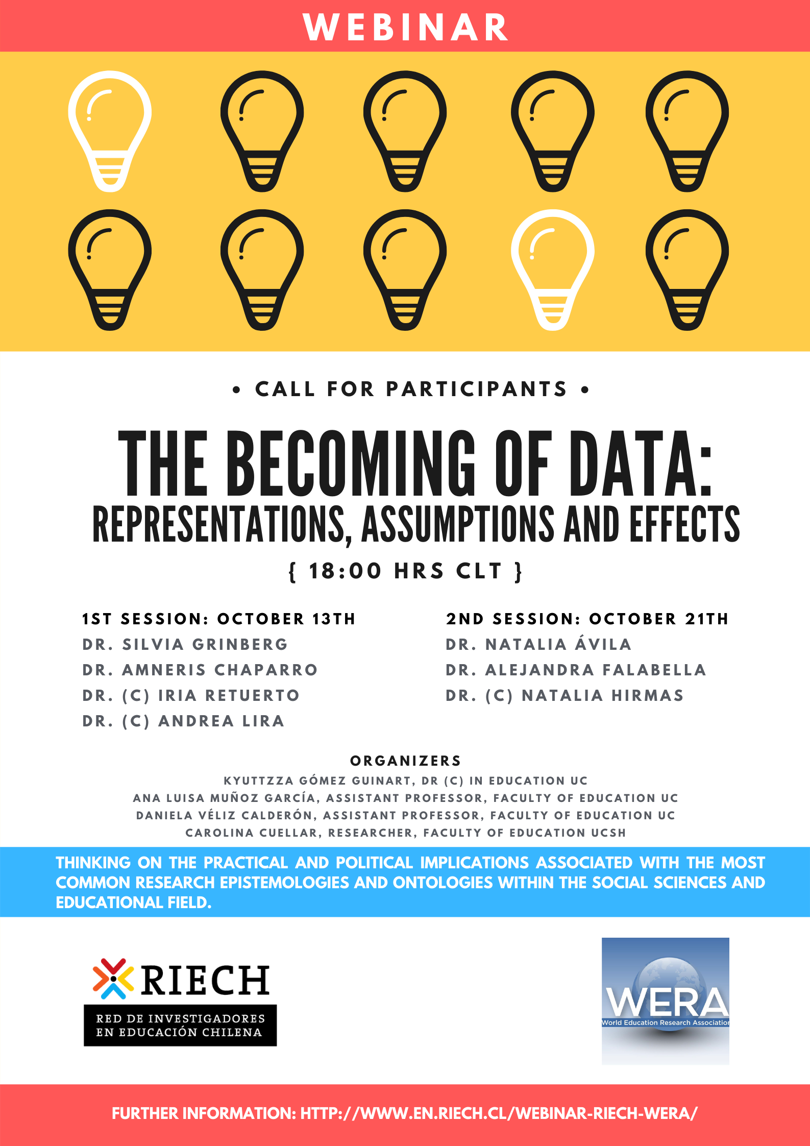 """Webinar """"The becoming of data: representations, assumptions and effects"""""""